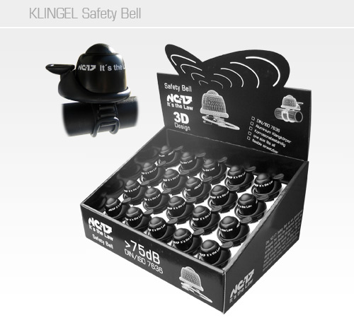 NC-17 Safety Bell Klingel schwarz<br/>20 Stück in Display Box<br/>