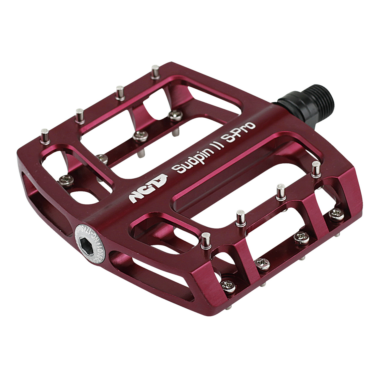 NC-17 Sudpin II S-Pro CNC<br/>Pedal, rot, Präzisionslager<br/>
