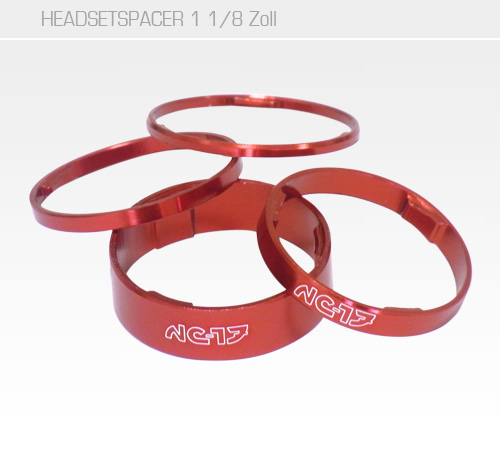 1 1/8 Headset Spacer rot<br/>Set 2mm, 3mm, 5mm, 10mm<br/>